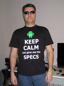 Keep calm and give me the specs - Adroid app